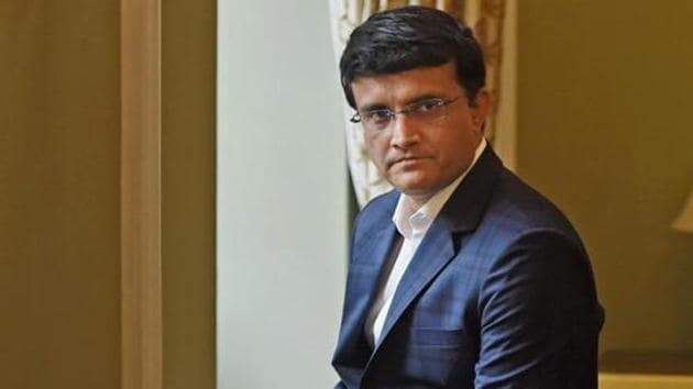 Former cricketer Sourav Ganguly during a press conference in Mumbai on Tuesday.(PTI)