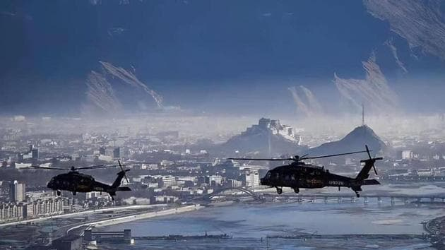 The military drills in Tibet's capital city of Lhasa - also home to the Potala Palace, the historic seat of the Dalai Lama - were designed to message to Tibetans not to cross the red line(Sourced)