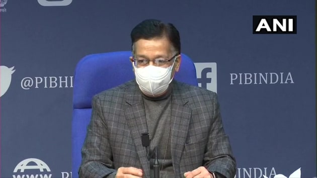 Bhushan at the beginning of the briefing had said that the total active coronavirus cases in India were less than 250,000 and were continuing to decline adding that the positivity stood at 1.97 per cent.(ANI Photo)