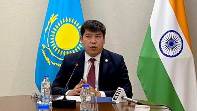 Kazakhstan Ambassador to India Yerlan Alimbayev said Kazakhstan is producing three vaccines, that are in Phase II and III.(ANI)