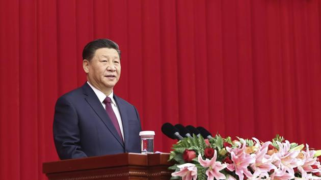 Chinese President Xi Jinping speaks at a New Year gathering hosted by the Chinese People's Political Consultative Conference (CPPCC) in Beijing.(AP)