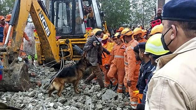 Rescue operation carried out by NDRF personnel. (representational image)(PTI)