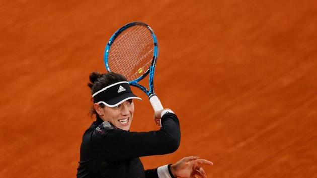 FILE PHOTO: Tennis - French Open - Roland Garros, Paris, France - October 3, 2020 Spain's Garbine Muguruza in action during her third round match against Danielle Rose Collins of the U.S REUTERS/Christian Hartmann(REUTERS)