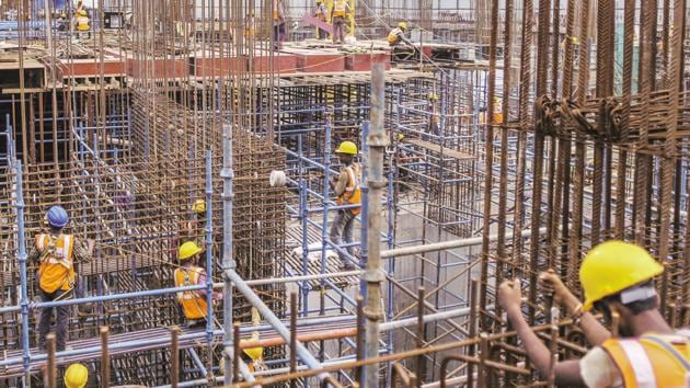 Price of construction steel or TMT bars had recently touched Rs 45,000 a tonne in some markets.(Bloomberg Fille Photo)