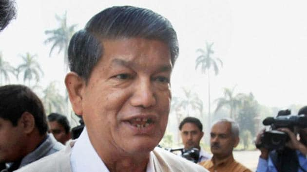 File photo: Congress leader and former Uttarakhand chief minister Harish Rawat.(Shahbaz Khan)
