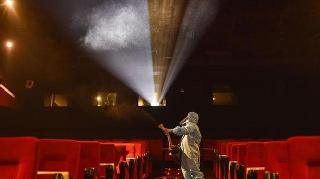 Theatres will have to be cleaned and sanitised as per the standard operating procedures released by the government(PTI)