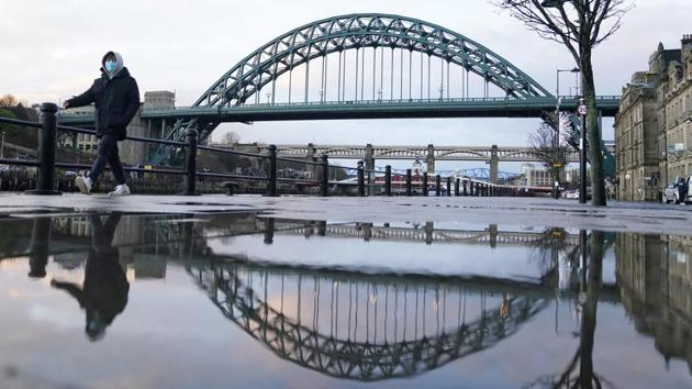 A near empty view of a Quayside in Newcastle upon Tyne on January 5. Johnson said the disruption meant it would not be possible for all exams to go ahead this summer -- the second academic year in a row in which the pandemic has played havoc with pupils' education and future plans. (Owen Humphreys / AP)