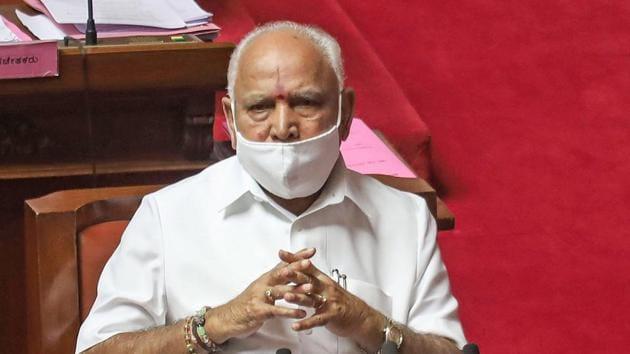 Karnataka CM BS Yediyurappa speaks during the Winter Session at Vidhana Soudha in Bengaluru.(PTI)