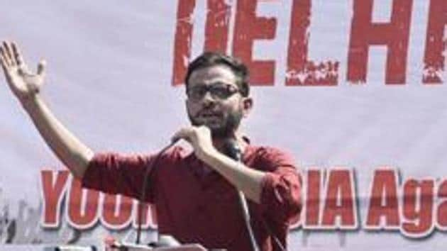 Khalid had told the court on Monday that this is affecting his right to free and fair trial. The matter would be heard on January 7.(Vipin Kumar/HT file photo)