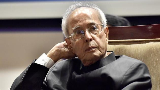 """Mr Mukherjee, a long-term parliamentarian, noted the trend of parliamentary disruptions and wrote how """"appalled"""" he was with the """"callousness"""" with which disruptions were used(Sonu Mehta/HT PHOTO)"""