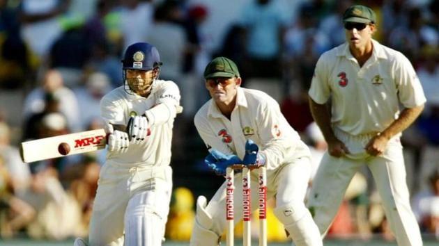 Sachin Tendulkar batting against Australia in the Sydney Test in 2003(Twitter)