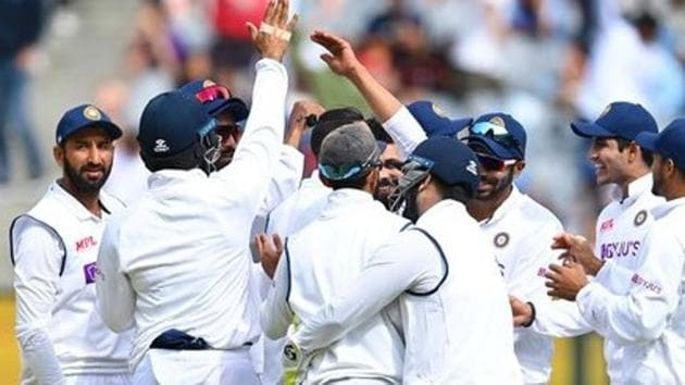 Photo of Indian cricket team celebrating a wicket during Boxing Day Test(BCCI/Twitter)