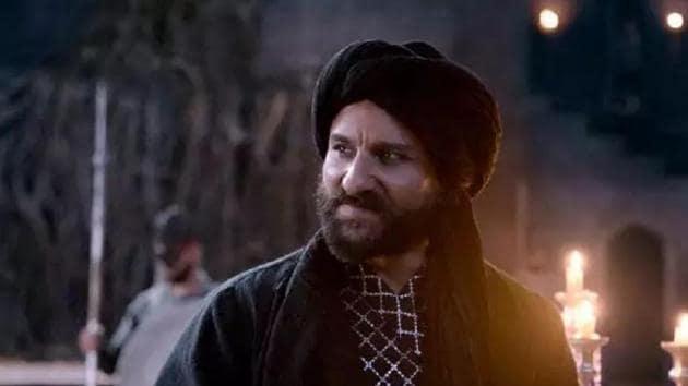 Saif Ali Khan in a still from Tanhaji: The Unsung Warrior.