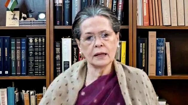 Congress President Sonia Gandhi approved the appointment of senior observers in poll bound states in 2021, according to a statement from the party.(PTI)