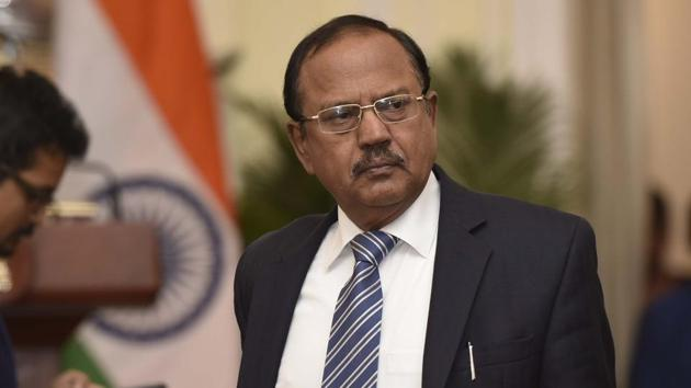 National Security Advisor Ajit Doval will lead the Indian team at the annual strategic dialogue with French President's diplomatic advisor Emmanuel Bonne(Vipin Kumar/HT PHOTO)