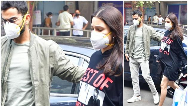 Virat Kohli was seen with his wife and actor Anushka Sharma as they went out for lunch.