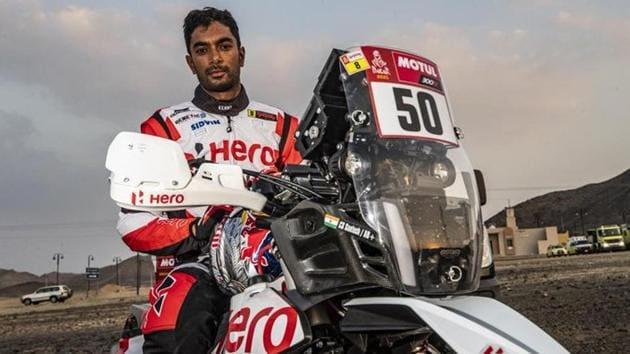 Photo of Indian motorcycle racer CS Santosh(Twitter)