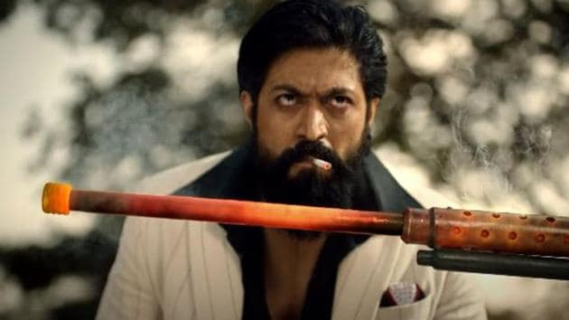 Yash in a still from the KGF Chapter 2 teaser.