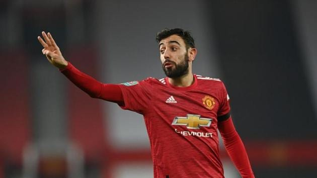 Soccer Football - Carabao Cup - Semi Final - Manchester United v Manchester City - Old Trafford, Manchester, Britain - January 6, 2021 Manchester United's Bruno Fernandes(Pool via REUTERS)