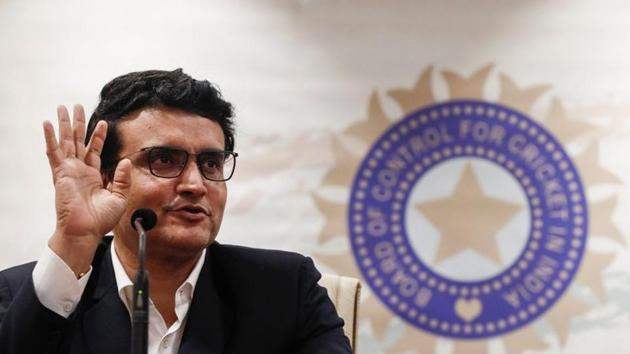 Former Indian cricketer and current BCCI (Board Of Control for Cricket in India) president Sourav Ganguly(REUTERS)