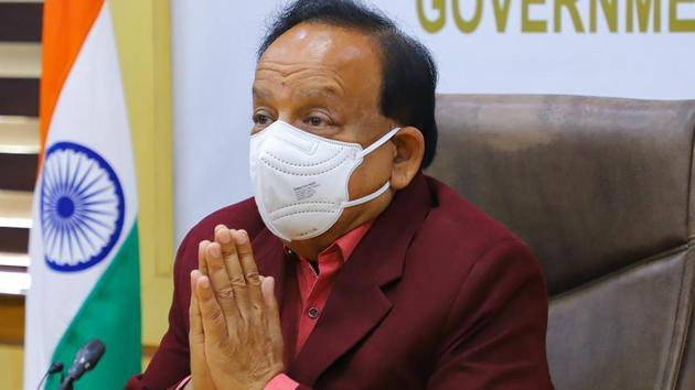 Union Minister for Health Harsh Vardhan on Thursday said these three states should serve as a warning to the rest of the country that there should be no complacency and relaxation of restrictions.(PTI)