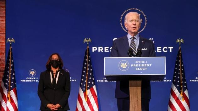US President-elect Joe Biden and US Vice President-elect Kamala Harris' victory in US elections has been formally certified by the US Congress.(REUTERS)