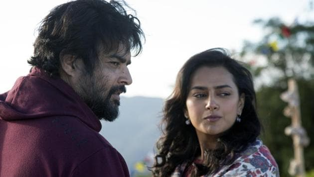 Maara movie review: R Madhavan and Shraddha Srinath in a still from the new Amazon film.