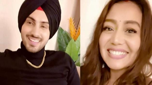 Rohanpreet Singh and Neha Kakkar in a glimpse from the video.