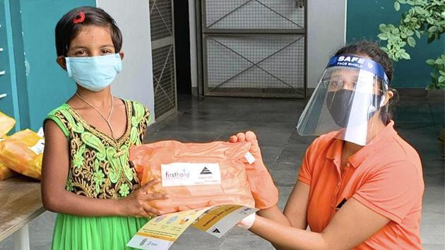 Health kit distribution during Covid-19.(Embassy Group)