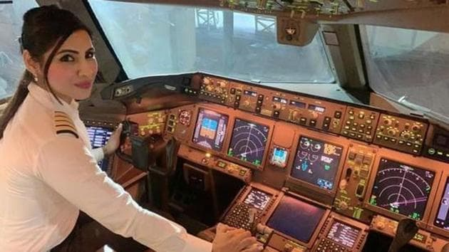 The longest flight over the North Pole will be another feather in Zoya Agarwal's cap as she was the youngest woman pilot to fly a Boeing-777 in 2013.(ANI/Twitter)