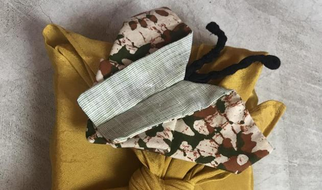 Wrapping ripper-uppers will consider being more careful with new gift-wrapping styles, like these reusable fabrics, which minimise landfill.(IMAGE COURTESY OH SCRAP)