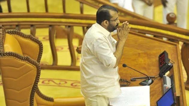 File photo: Kerala assembly Speaker P Sreeramakrishnan.(@cpimspeak/Twitter)