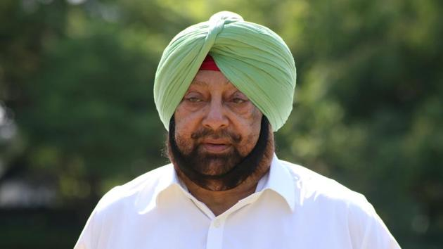 """Punjab chief minister Captain Amarinder Singh trashed the """"twisted and senseless"""" interpretation being given to the presence of a few Punjab Police personnel at the farmers' protest site.(Sanjeev Sharma/HT photo)"""