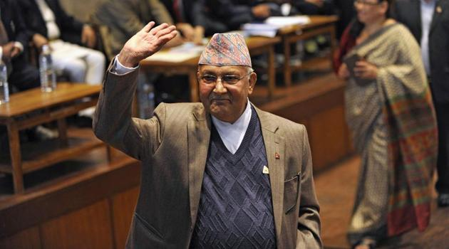 Oli has been emboldened to stick to power even by breaking the party. In the process, the shallowness of Oli's opportunistic and politically driven anti-Indian nationalism has been exposed(AFP)