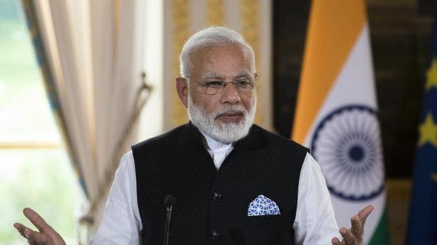 """The theme of the convention, aimed at encouraging Indian diaspora to be part of socio-economic development in India, is """"Contributing to Aatmanirbhar Bharat"""", Prime Minister's Office (PMO) said in a statement.(AP)"""