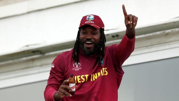 West Indies' Chris Gayle celebrates after the match.(Action Images via Reuters)