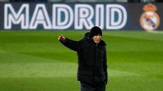 Soccer Football - La Liga Santander - Real Madrid v Celta Vigo - Estadio Alfredo Di Stefano, Madrid, Spain - January 2, 2021 Real Madrid coach Zinedine Zidane during the match REUTERS/Juan Medina/Files(REUTERS)