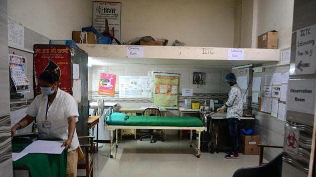 Civic hospital in Kalyan is set for the dry run.(Rishikesh Choudhary/ HT)