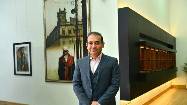A file picture of Indian jewellery designer Nirav Modi at his office in Lower Parel, Mumbai.(Aniruddha Chowdhury/Mint)