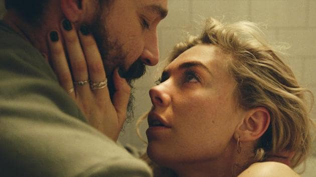 Pieces of a Woman movie review: Shia LaBeouf as Sean and Vanessa Kirby as Martha, in a still from the new Netflix film, executive produced by Martin Scorsese.(Netflix)