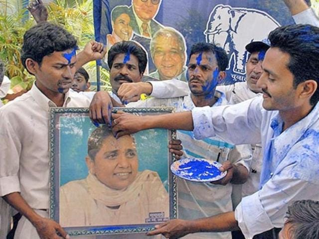 BSP-workers-celebrate-victory-in-the-just-concluded-assembly-elections-in-Uttar-Pradesh