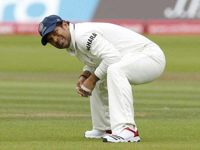 Sachin-Tendulkar-stretches-during-Day-1-of-the-first-Test-match-against-England-at-Lord-s-Cricket-Ground-in-London