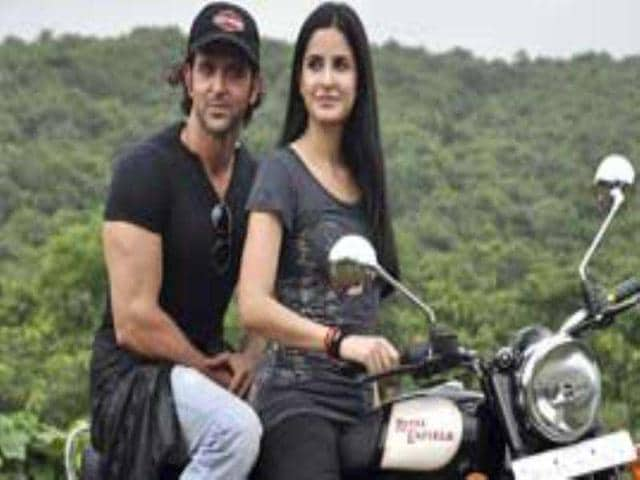 Katrina-Kaif-zips-through-Mumbai-roads-on-a-Royal-Enfield-while-her-ZNMD-co-star-Hrithik-rides-the-pillion-Check-out-more-pics-of-the-stars-Movie-Contest-Singham-Follow-htShowbiz-for-the-latest-celeb-buzz