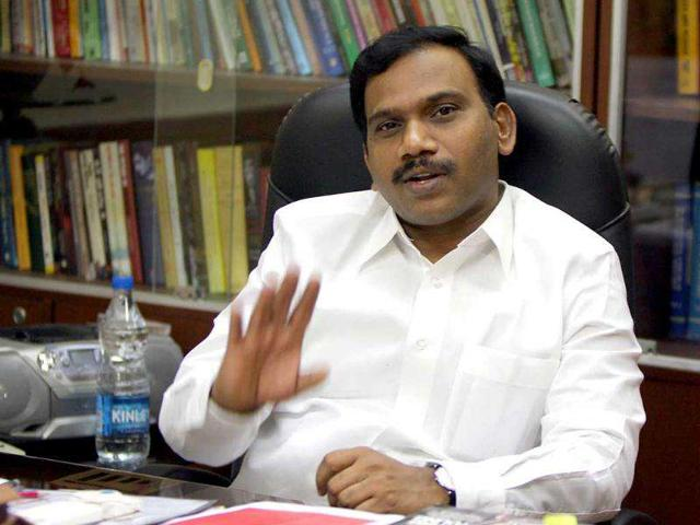 File-photo-of-former-telecom-minister-A-Raja-during-an-interview-with-Hindustan-Times