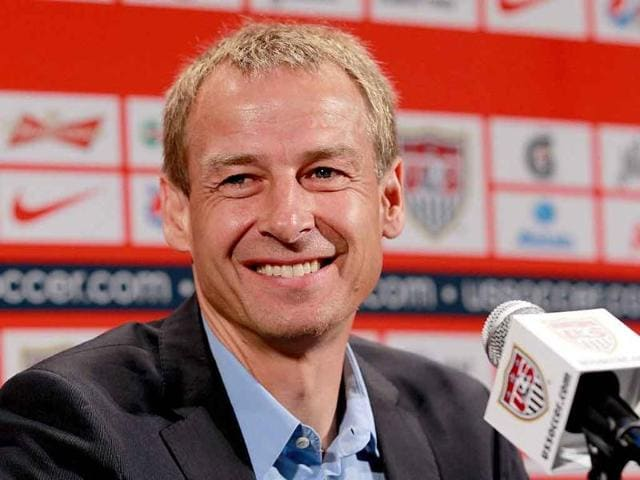 d47578ea5 Jurgen-Klinsmann-talks-to-the-media-during-a -press-conference-to-announce-him-as-the-new-head-coach-of-the-US-Men-s- National-Soccer-Team-at-NikeTown-in-New- ...