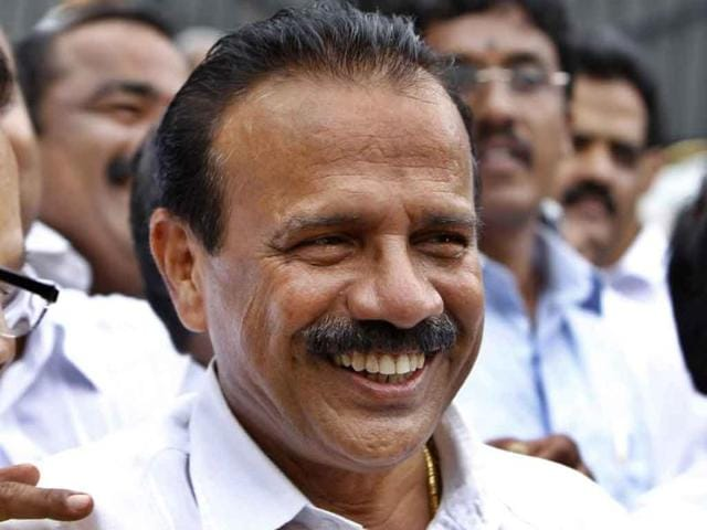 DV-Sadananda-Gowda-newly-elected-chief-minister-of-Karnataka-speaks-to-the-media-outside-former-chief-minister-BS-Yediyurappa-s-residence-in-this-file-picture