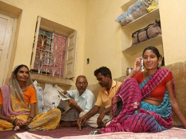 Ram-Rati-l-and-Hem-Kumari-r-patients-in-Aiims-who-were-living-in-a-toilet-shifted-to-a-dharamshala-in-Yusuf-Sarai-New-Delhi