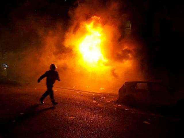 Police-arrest-a-man-for-looting-in-Clapham-Junction-in-south-London-Violence-and-looting-spread-across-some-of-London-s-most-impoverished-neighborhoods-with-youths-setting-fire-to-shops-and-vehicles-during-a-third-day-of-rioting-in-the-city-that-will-host-next-summer-s-Olympic-Games