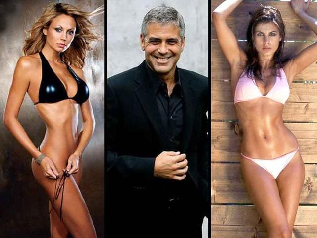 stacy keibler,george clooney,parents