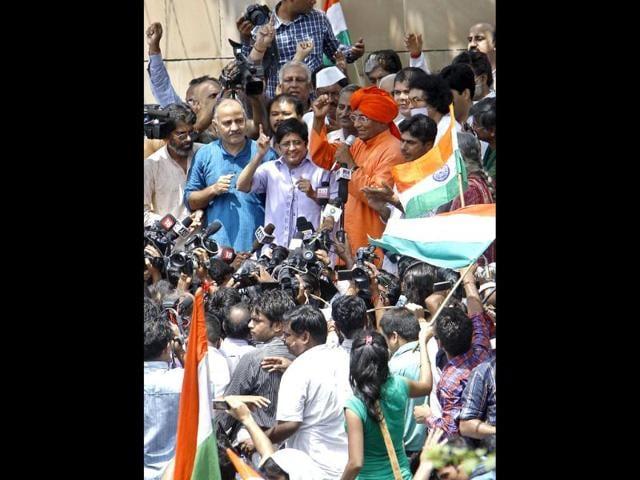 Team Anna,kiran bedi,prashant bhushan